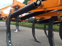 cultivateur déchaumeur 5 dents largeur 120cm pour tracteur kubota iseki etc mod de 120 5