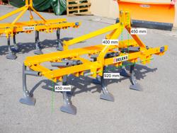 cultivateur à dents d oie ou dents droites largeur 165cm pour tracteur agricole mod de 165 7 v