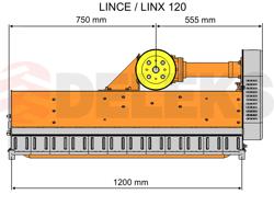 broyeur à marteaux déportable lynx sp120 pour kubota iseki solis