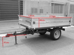 remorque agricole 1 5 tonnes pour tracteur modèle rm 12