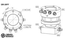 grappin à bois avec rotateur 360 continue modèle dk 11c gr 30ff