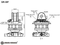 grappin avec rotateur 3 tonnes pour pelles et grues mod dk 16 gr 30f
