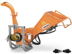 broyeur de branches hydraulique à tambour dk 1300 pour tracteur copeaux et brf