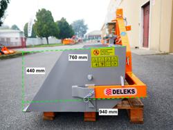 godet 140cm basculement hydraulique pour chariot élévateur mod pri 140 lm