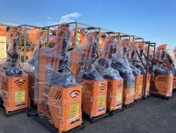 epareuse hydraulique pour tracteur avec broyeur ou taille haie mod airone 100