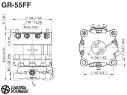 rotateur lombarda ingranaggi gr55ff