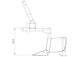 butteur composé de 2 éléments pour tracteur modèle da 140