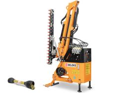 epareuse hydraulique pour tracteur avec broyeur ou taille haie mod airone 180 tr