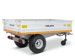 remorque tri benne agricole pour tracteur 2 tonnes modèle rm 14 t3