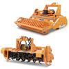 rotovators pour tracteur fraise agricole enfouisseurs de pierres avec rouleau et mélangeurs de litière